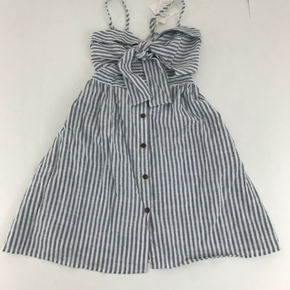 Zaful Dresses & Skirts - Zaful Striped Front Knot Cutout Cami Dress S NWT